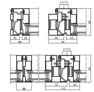 Scheda tecnica profilo in alluminio forster unico - Profili per finestre ...